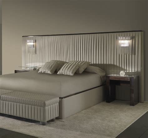 bench 2 bedside upholstered bedside bench with legs in murano glass plisse