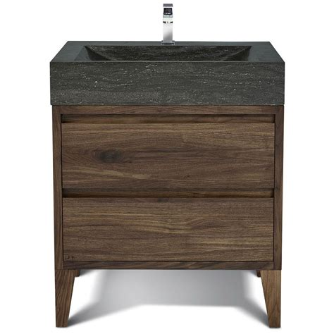 Hardwood Bathroom Vanity by Vng39 Waw 39 Quot And Walnut Hardwood Bathroom Vanity