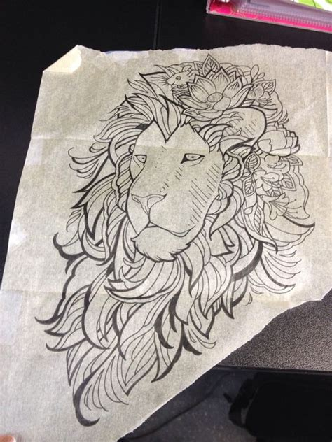 110 best wild lion tattoo designs meanings choose yours 2018 collection of 25 lion and flowers tattoo sketch