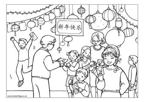 new year coloring pages pdf chinese new year gifts colouring page