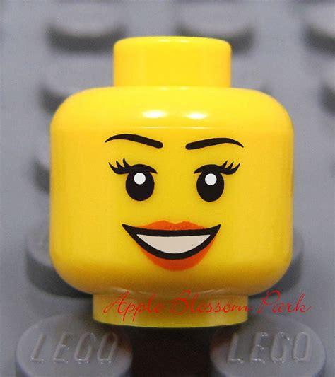 lego heads with hair new lego city female girl minifig head w smile kingdoms
