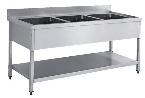 under bench kitchen sinks newworld stainless steel triple sink bench with under shelve