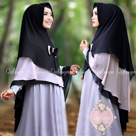 Dhea Dress Saja Tanpa Khimar khimar anaqah black series by qalisya pusat grosir