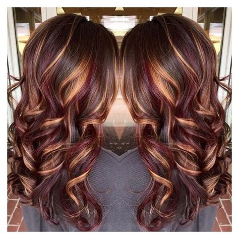 caramel and burgandy highlights on older ladies hair best 25 burgundy hair with highlights ideas on pinterest