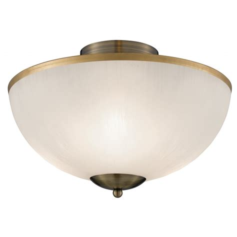 searchlight 6580ab brahama 3 light antique brass flush