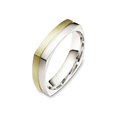 Two Tone Gold Wedding Band - two tone gold wedding band square shank spirit