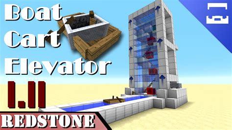 minecraft boat redstone boat minecart elevator minecraft redstone tutorial 1