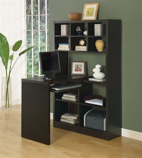 office desk with shelves modern office desk bookcase combination in cappuccino