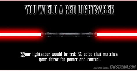 what color lightsaber are you which color lightsaber would you wield page 7