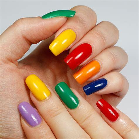 Rainbow Color Nail Designs