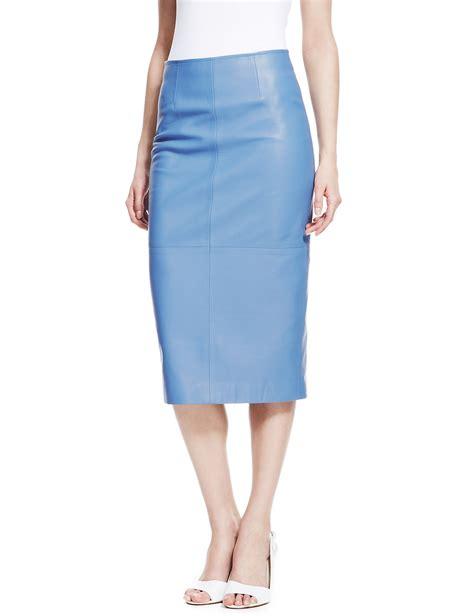 light blue pencil skirt blue leather pencil skirt jill dress