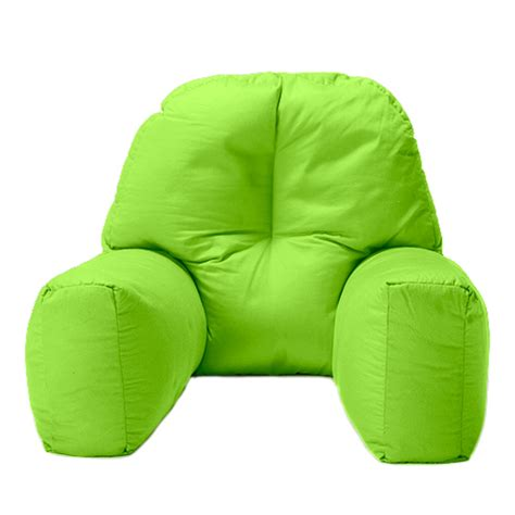 sit up in bed pillow walmart lime cotton chloe bed reading pillow bean bag cushion arm