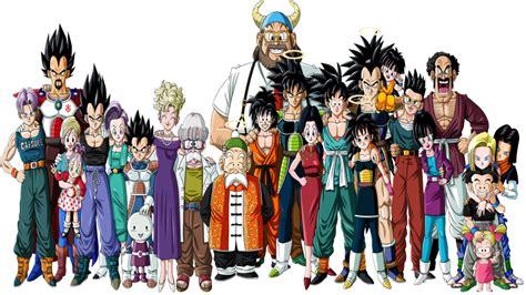imagenes de la familia de goku vegeta goku y krillin con su familia dragonball z gt af