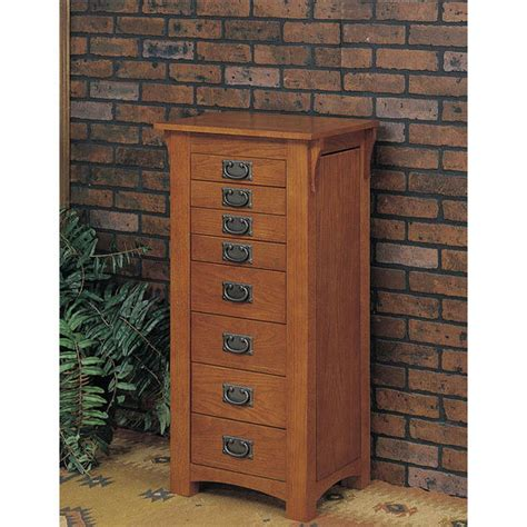 jewelry armoire oak finish mission oak finish contemporary jewelry armoire powell