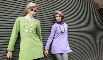 Kaos Dengan Leher V 10 contoh model kaos muslim remaja trendy terbaru