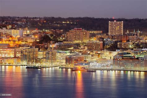 yonkers ny yonkers new york waterfront downtown skyline stock photo