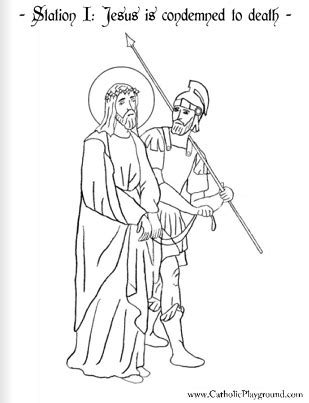 coloring book pages stations of the cross coloring page for the station of the cross jesus is