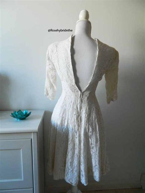 robe de mari 233 e vintage en dentelle blanche 40 s 50 s