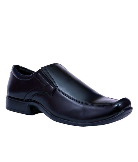 bata black synthetic leather formal shoes price in india