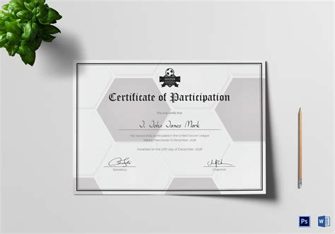 8 sports certificate templates free sample example