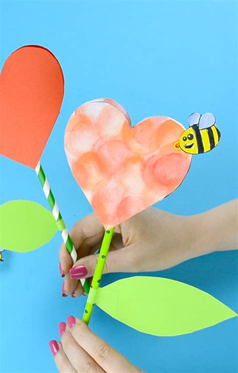craft made of paper paper flower craft with template easy peasy and