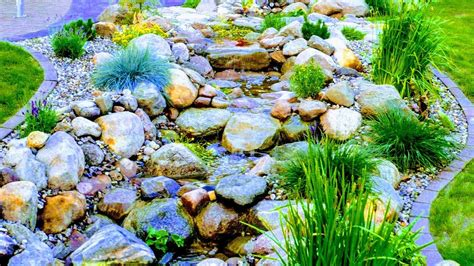 how to build a backyard stream how to build natural garden stream with waterfall light