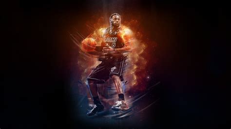 desktop wallpaper video player lebron james dunk heat wallpapers 2015 wallpaper cave
