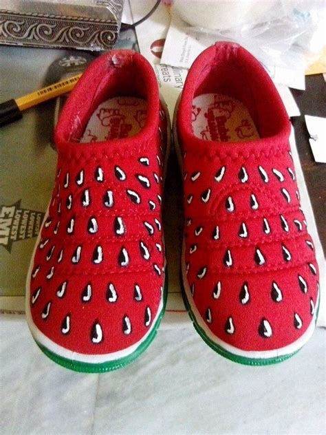 diy watermelon shoes handpainted watermelon shoes diy crafts