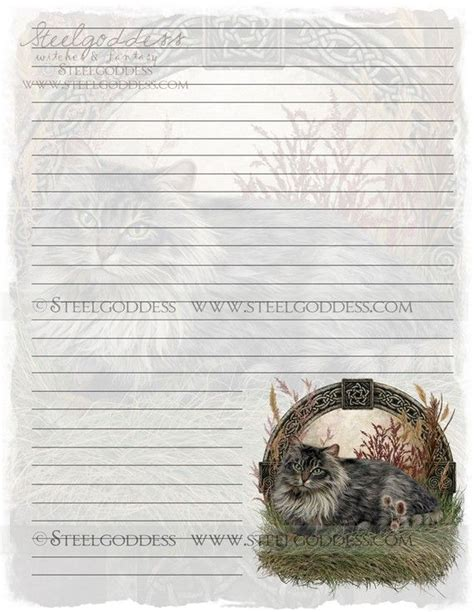 printable cat stationery 11 best images about book of shadows pages on pinterest