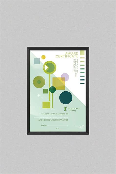 design cer vans 21 best modern certificate design images on pinterest