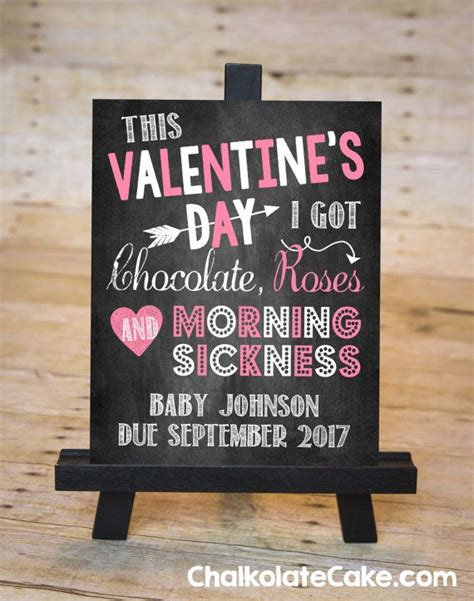 valentines pregnancy announcement s day pregnancy announcement sign by