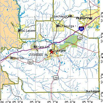 map of tuskegee alabama tuskegee alabama al population data races housing