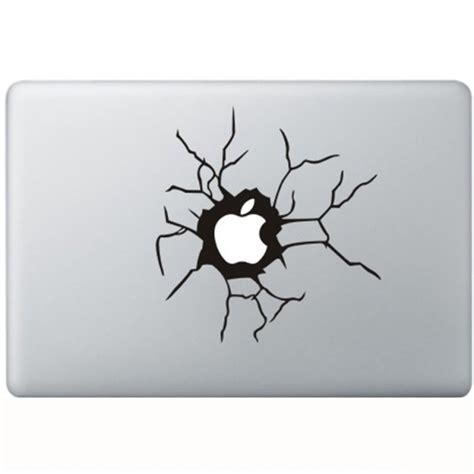 Sticker Apple cracked apple macbook decal kongdecals macbook decals