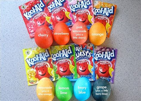 how to color eggs with kool aid kool aid dyed easter eggs