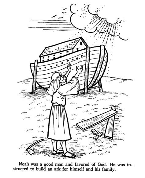coloring pages of noah building the ark crafts