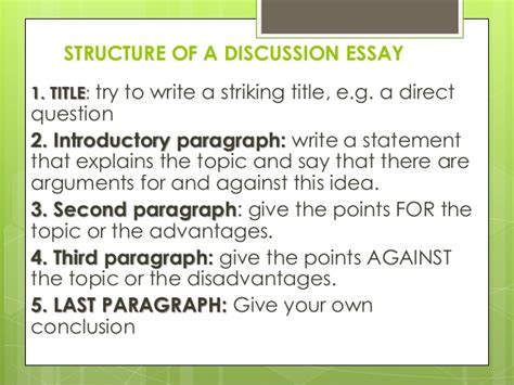 Writing A Discussion Essay by How To Write An Essay