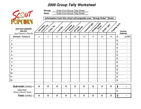 Tally Table by Tally Worksheets Lovesongdesigns