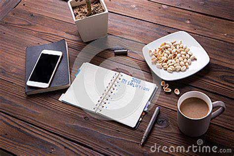Snacks For Office Desk Top View Office Desk Mockup Laptop Smartphone Snacks And Cup Of Coffee Stock Photo Image