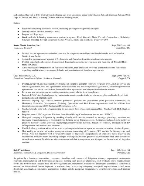 transactional attorney resume best resume collection