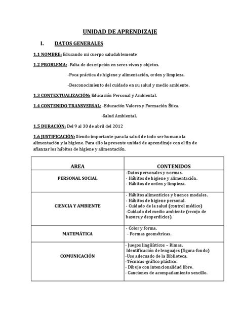 unidad de aprendizaje de nivel primaria personal social unidad de aprendizaje del nivel inicial de la i e no 178