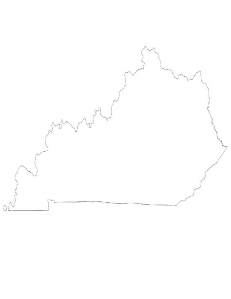 ky map forms kentucky state outline map free