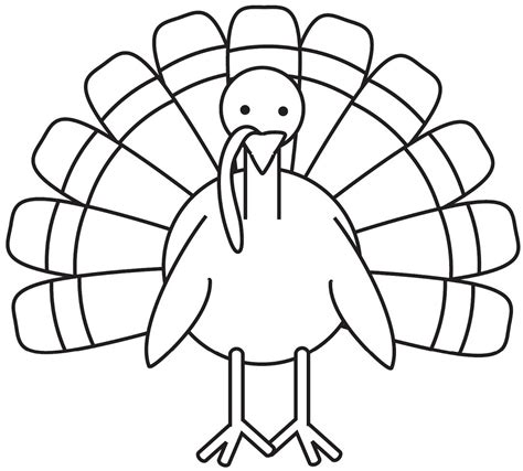 printable turkey to color turkey coloring page free large images