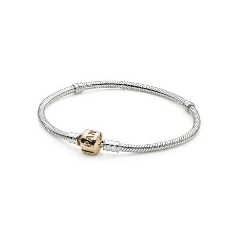 pandora bracelet silver charm bracelet with 14k gold clasp pandora jewelry