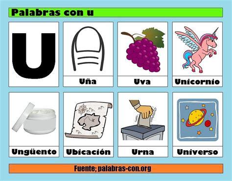 imagenes de palabras que empiecen con i palabras con u alfabeto abecedario pinterest