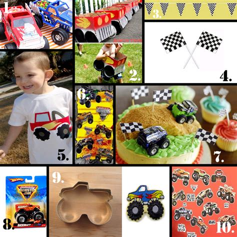 monster truck jam party supplies birthdays on a budget