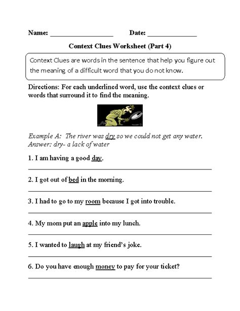 Context Clues Worksheets 2nd Grade by Context Clues Worksheets Context Clues Worksheets Part 4