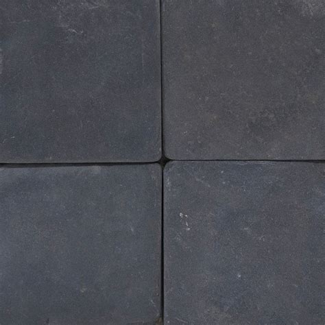 black 4x4 tumbled mfd tile traditional wall and floor