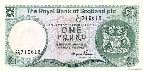 bank of scotland kontakt 1 pound scotland 1982 p 341a b74 0159 banknoten