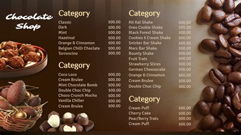Menu Dan Coffee Toffee restaurant signage templates signagecreator
