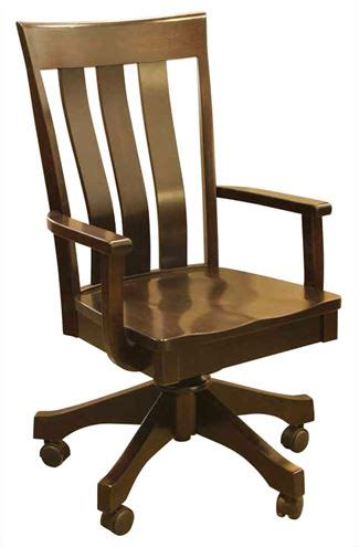 Amish Desk Chair by Amish Office Desk Chairs